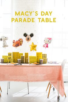 It doesn't get cuter than this Macy's Day Parade Thanksgiving tablescape.