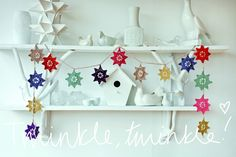 This fantastic Crochet Star Garland, from Ros Badger's book Hook, Yarn & Crochet is fun to make & looks