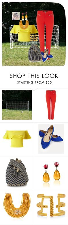 """football outfit 3"" by valentina-miyake-toscano on Polyvore featuring Franklin, Lauren Ralph Lauren, Miss Selfridge, JustFab, Guanábana, Goshwara, Rosantica and Liza Echeverry"