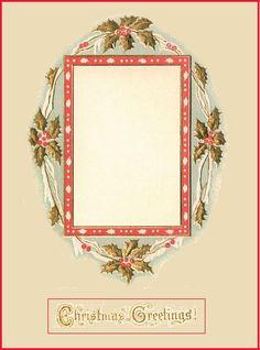 Vintage Christmas Frame ~ Free Trinkets And Treasures