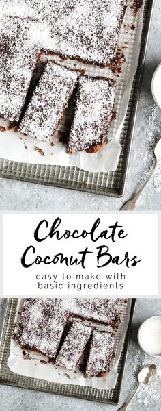 Chocolate Coconut Bars | eatlittlebird.com