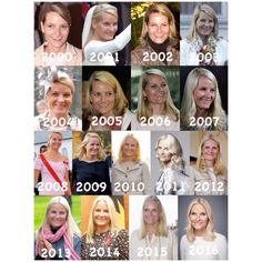 Transformation Series . Mette Marit Høiby to Mette Marit, Crown Princess of Norway . Which year is your favourite year? . #TrasfomationSeriesRF