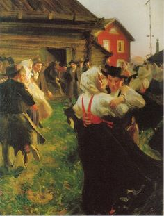 Midsummer Dance, 1897, by Anders Zorn, Nationalmuseum, Sweden