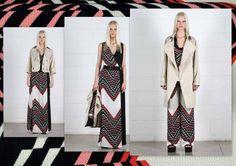 Stampa di tendenza! Abito Fata, giacca Pesca, blusa Electra, pantalone Era, spolverino Pandora. http://www.cristinaeffe.com/glam-collection/