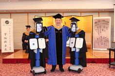 A university in Japan has held a graduation ceremony for students using avatar robots remotely controlled by graduating students from their homes. The avatar. Zoom Conference Call, Tokyo, Graduation Cap And Gown, Bored Panda, People Around The World, Grand Prix, Avatar, Innovation, Hold On