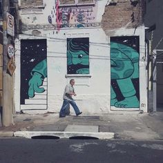 A selection of the street art creations and illustrations by Mauro Golin, aka Muretz, an artist based in Sao Paulo who is having fun filling the walls and th