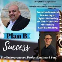 We were honored and excited to chat with Rajeev Mudumba from the Plan B Success podcast. We talked about the need for clarity on #marketing fundamentals for a #growingbusiness and how to get the best #ROI when generating higher quality leads, increasing conversions, increasing profits, and creating repeat customers. Check it out.