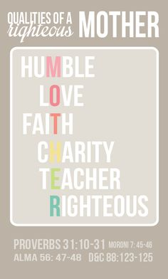 prepare now to become a righteous wife and mother handout (August Young Women Handouts, Young Women Lessons, Young Women Activities, Personal Progress, Lds Quotes, Marriage And Family, Relief Society, Just In Case, Favorite Quotes