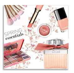 """Spring Perfume"" by effekiara ❤ liked on Polyvore featuring beauty, Too Faced Cosmetics, Clinique, Chloé, Clarins and springperfume"