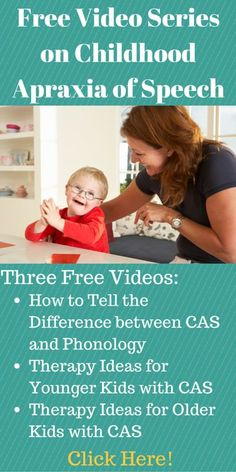 Get 3 free videos about how to do speech therapy for children with CAS! This is so helpful!