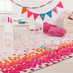 Surya's Abigail is crafted to withstand the daily wear and tear of kids' playrooms. (ABI-9051)