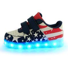 LED 7 Colori Cambi- Sneaker Scarpe Bambini Bambina Unisex Collo Basso , Presa USB Ricarica Sport Regali Originali Compleanno Natale Ragazza Ragazzi Scarpe Piatte DA EURO 34,90