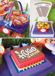 Magical Willy Wonka Inspired Birthday Party Golden Birthday, Birthday Fun, Birthday Celebration, Fourth Birthday, Birthday Stuff, Birthday Ideas, Chocolate Party, Cake Chocolate, Willy Wonka
