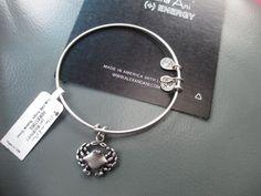 Alex and Ani CRAB Silver Charm Bracelet/Bangle NEW w/ tags and BOX RETIRED RARE  #AlexandAni #Bangle