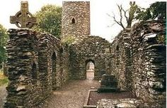 ...celtic ruins, ireland.