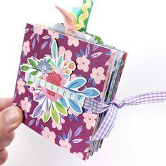 Folding Squares Mini Album | Paige Evans | Pink Paislee