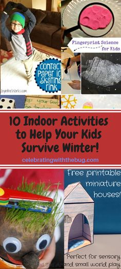10 Indoor Activities to Help Your Kids Survive Winter! Kid Games Indoor, Indoor Activities For Kids, Activities To Do, Science For Kids, Games For Kids, Children Activities, Alcohol Is A Drug, Small World Play, Boredom Busters