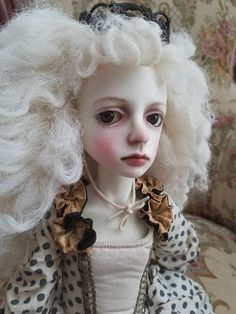 GORGEOUS Georgian style ooak connie lowe bjd MSD Doll MINTY!!