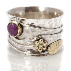 Handmade Ruby Silver Flower Ring by Charlotte's Web Metal Jewelry, Boho Jewelry, Jewelry Rings, Silver Jewelry, Jewelry Design, Silver Earrings, Dragonfly Jewelry, Jewellery, Silver Rings Handmade