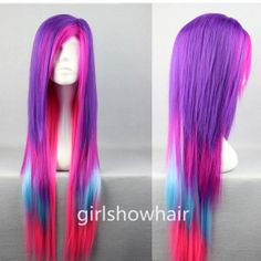 Hey, I found this really awesome Etsy listing at https://www.etsy.com/listing/186910267/long-color-wig-multi-color-lolita-wig