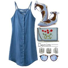 how to wear a denim dress in summer 5
