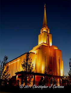 "Title: ""Warm Oquirrh Nights"" Oquirrh Mountain Temple, South Jordan, UT"