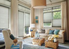 The Alustra Collection of Duette Architella honeycomb shades from Hunter Douglas offer enhanced energy efficiency, dramatic 1 pleats, and exclusive sheers and hardware finishes. Hunter Douglas, Aluminum Blinds, Honeycomb Shades, Woven Wood Shades, Cellular Shades, Blinds Design, Custom Window Treatments, Custom Windows, Interior Decorating