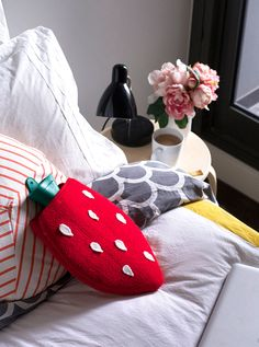 DIY Strawberry Hot Water Bottle Cover