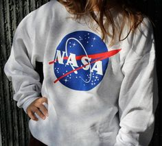 "Unisex NASA Sweater Hoodie Long Sleeve Sweatshirt "" FREE SHIPPING "" …"