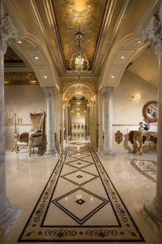 Palace Interior, Mansion Interior, Luxury Homes Interior, Luxury Home Decor, Home Interior Design, Interior Architecture, Luxury Rooms, Luxury Homes Dream Houses, Dream Home Design