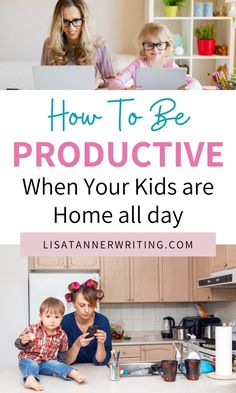 Productive Things To Do, Things To Do At Home, Working Mom Tips, Work From Home Tips, Practical Parenting, Parenting Hacks, Happy Mom, Happy Kids, Free Homeschool Curriculum