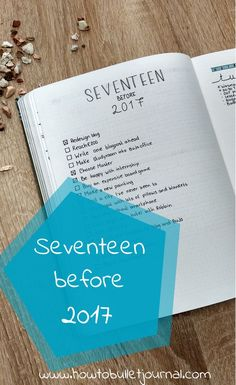The end of the year is almost near! So it's time to set some goals again! I'm listing seventeen goals I want to accomplish before 2016 ends. Take a look at my 'Seventeen before 2017' page in my Bullet Journal!