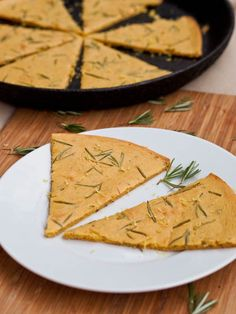 Farinata with Rosemary is a vegan and gluten-free pizza made with chickpea flour. Light crisp and brimming with fragrant rosemary flavor.