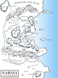 Narnian Maps   Charlie W. Starr - This is very cool...I've never seen this before.