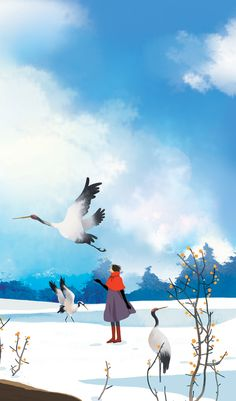 Kai Fine Art is an art website, shows painting and illustration works all over the world. Winter Illustration, Illustration Art, Storyboard, Wallpaper Animes, Relaxing Art, Hand Painted Wallpaper, Beautiful Sketches, Some Beautiful Pictures, Purple Art