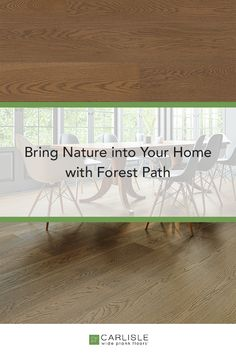 The smooth texture of White Oak Forest Path allows for a more even tone and the gentle sheen shines just barely to give each board the rich appearance of fine furniture. #home #interiordesign #whiteoakfloors Oak Forest, Forest Path, Oak Flooring, Wide Plank Flooring, White Oak Floors, Three Words, Carlisle, Fine Furniture, Custom Wood