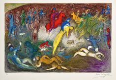 Chagall, Chloé is Carried Off by the Methymneans (Daphnis & Chloé, M.327)