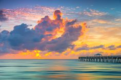 Clouds Over the Atlantic Ocean on the Juno Beach Pier.  Photo courtesy of Kim Seng | CaptainKimo.com
