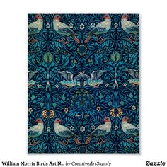 William Morris Birds Art Nouveau Floral Pattern Poster
