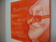 #cartola #samba #pintura #acrilicasobretela #acriliconcanvas #painting #flavialima