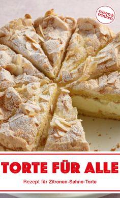 Recipe for lemon cream cake - Tolle Torten - Rezepte Easy Baking Recipes, Lemon Recipes, Easy Cake Recipes, Pie Recipes, Lemon Cream Cake, Vegan Lemon Cake, Cookies Et Biscuits, Cake Cookies, Chocolate Cake Recipe Easy
