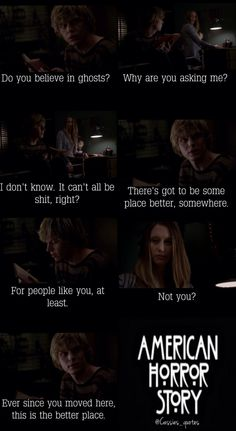 Tate Langdon + Violet Harmon + ahs american horror story + Evan Peters + Taissa Farmiga + quotes I melted into a pool of fangirl on that line. Best Tv Shows, Best Shows Ever, Favorite Tv Shows, Evan Peters, Movies Showing, Movies And Tv Shows, Tate Ahs, Tate And Violet, American Horror Story 3