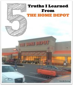 When you love DIY, there's a chance you'll end up at a Big Box Hardware store. And chances are, you won't know many things about navigating the store. Here are 5 truths that I learned from my frequent trips to The Home Depot. Includes things resources people don't know about!