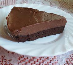 Nutellás sajttorta, brownie ágyon