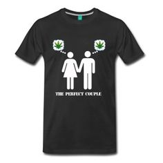 The Perfect Couple Weed T-Shirts - Men's Premium T-Shirt
