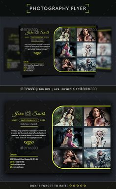 Photography Flyer Template PSD. Download here: http://graphicriver.net/item/photography-flyer-template/15380490?ref=ksioks