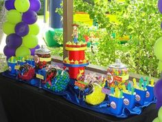 Cute candy buffet idea, but with a cute table skirt of course!