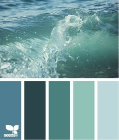 [I like this combination of sea greens.]