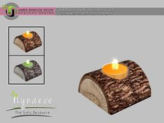 Amber Bedroom - Log Candle Found in TSR Category 'Sims 4 Table Lamps'