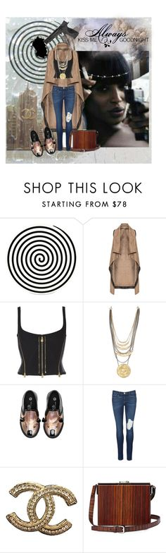"""""""Gimme tha Soup!"""" by kiwipeach ❤ liked on Polyvore featuring Altreforme, Mat, Marc Jacobs, Frame Denim, Chanel, Bertoni, Smith & Wesson and Love Quotes Scarves"""